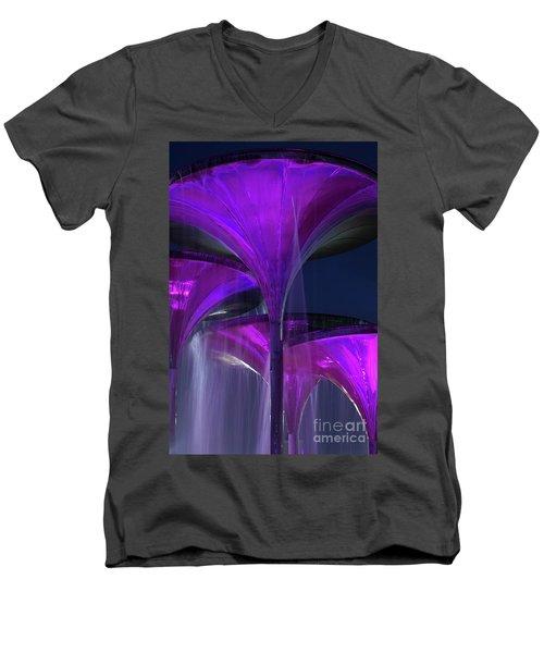 Frog Fountain At Texas Christian University Men's V-Neck T-Shirt