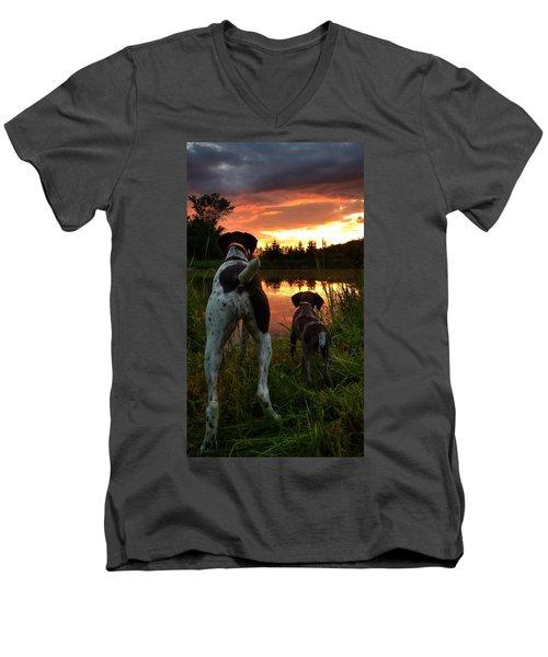 Frog Hunters 2 Men's V-Neck T-Shirt