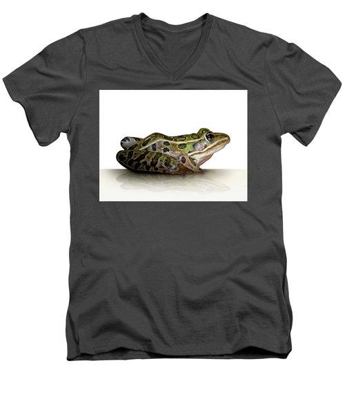 Frog Men's V-Neck T-Shirt by James Larkin