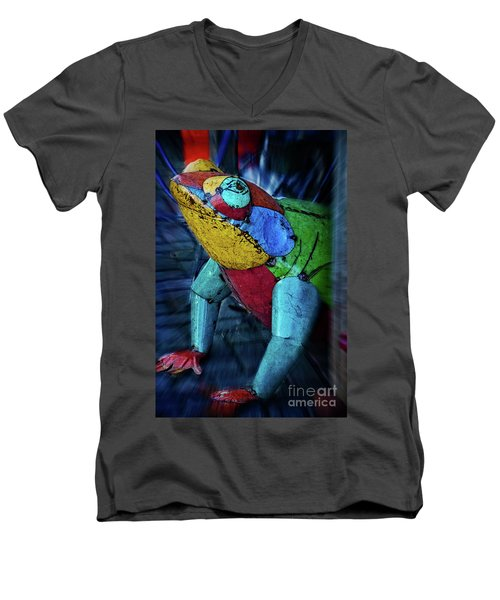 Men's V-Neck T-Shirt featuring the photograph Frog Prince by Mary Machare