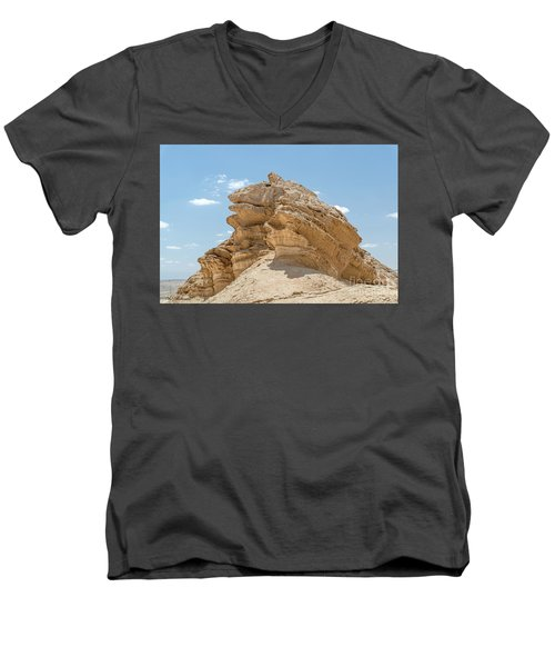Men's V-Neck T-Shirt featuring the photograph Frog Rock by Arik Baltinester