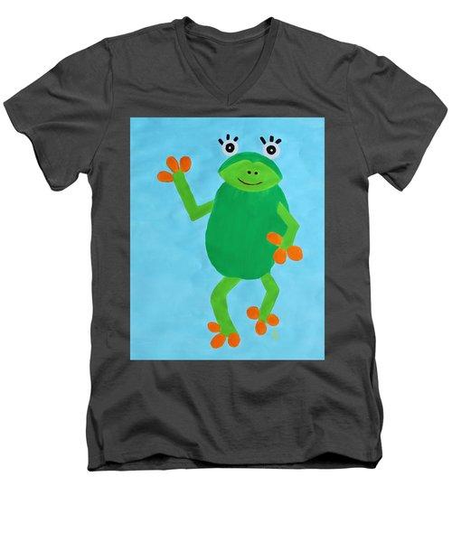 Froggie Men's V-Neck T-Shirt