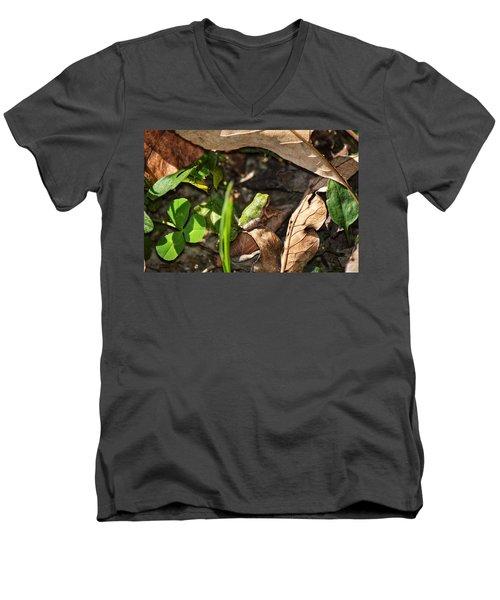 Froggy  Men's V-Neck T-Shirt