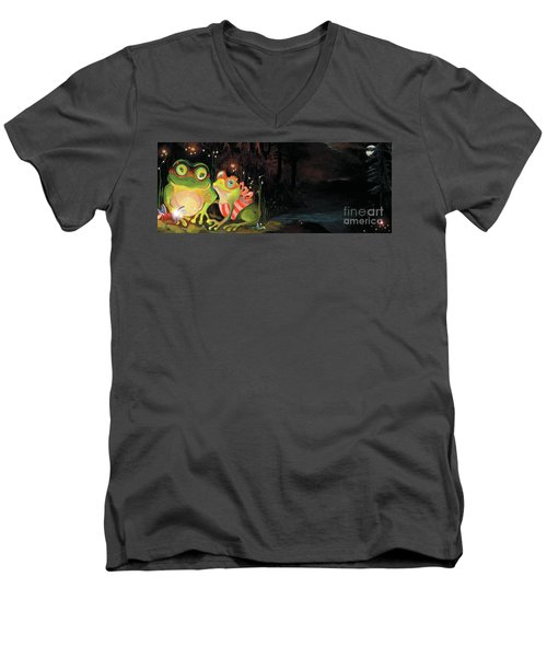 Frogs At Silver Lake Men's V-Neck T-Shirt