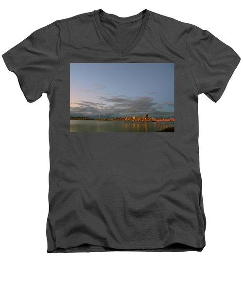 From Alki - Cloudy Night Men's V-Neck T-Shirt