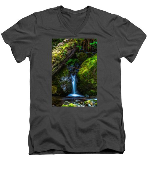 From Between Men's V-Neck T-Shirt by James Heckt