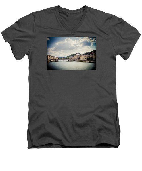 Men's V-Neck T-Shirt featuring the photograph From Here To There by Jason Smith