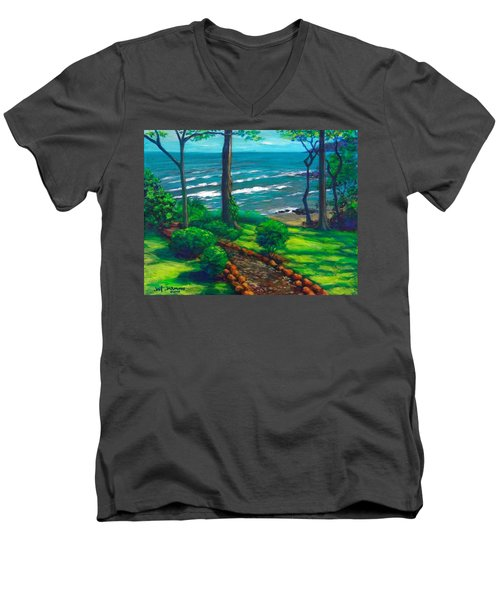 From The Hacienda Men's V-Neck T-Shirt by Jeanette Jarmon