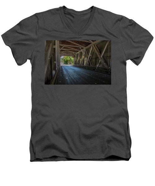 From The Inside Looking Out - Shimanek Bridge Men's V-Neck T-Shirt