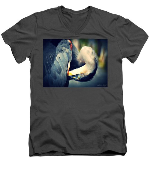 From The Series Great Blue Number 1 Men's V-Neck T-Shirt