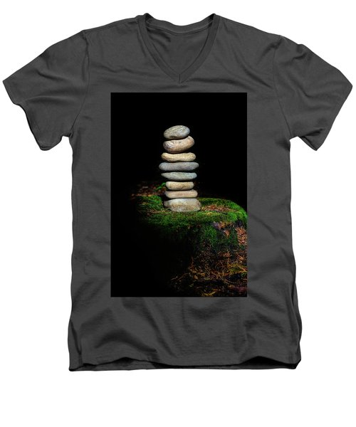 Men's V-Neck T-Shirt featuring the photograph From The Shadows by Marco Oliveira