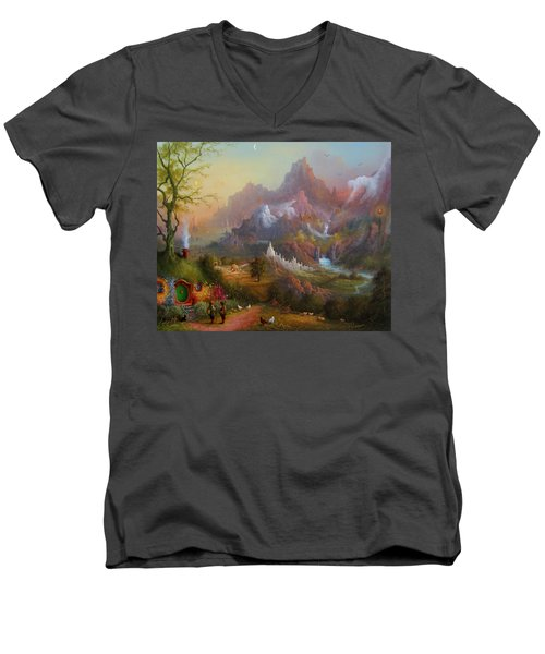From The Shire To The Sea Men's V-Neck T-Shirt by Joe  Gilronan