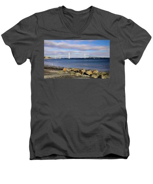 From The Shores Of Jamestown Men's V-Neck T-Shirt