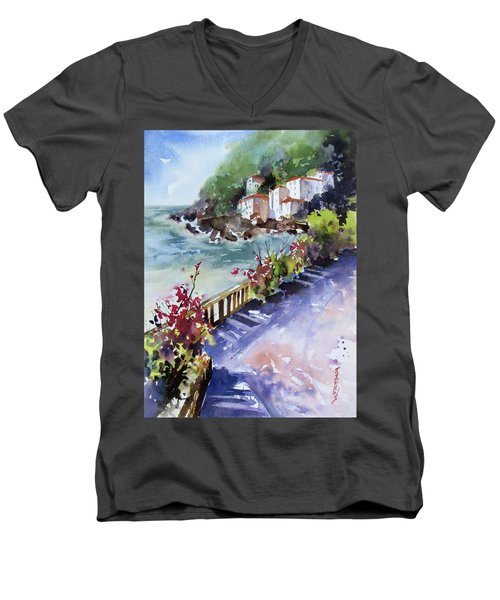 From The Walkway Men's V-Neck T-Shirt by Rae Andrews