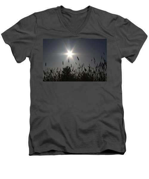 Men's V-Neck T-Shirt featuring the photograph From Where I Sit by Holly Ethan