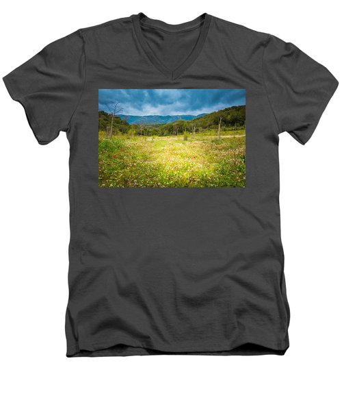 From Winter To Spring Men's V-Neck T-Shirt by Stavros Argyropoulos