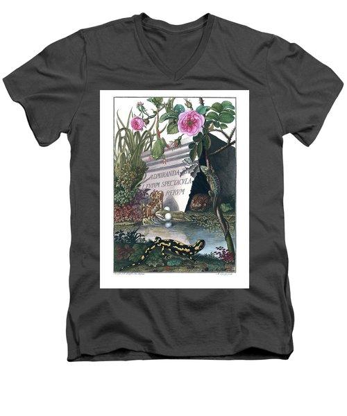 Frontis Of Historia Naturalis Ranarum Nostratium Men's V-Neck T-Shirt