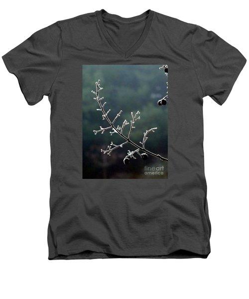 Frosted Men's V-Neck T-Shirt by Christy Ricafrente