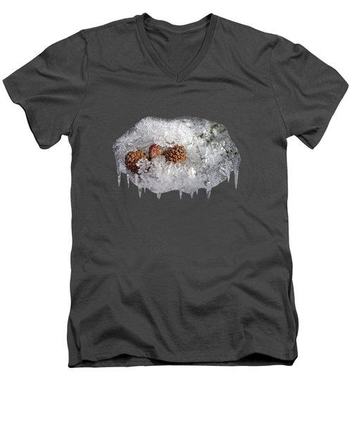 Frosty Bed Men's V-Neck T-Shirt by AugenWerk Susann Serfezi
