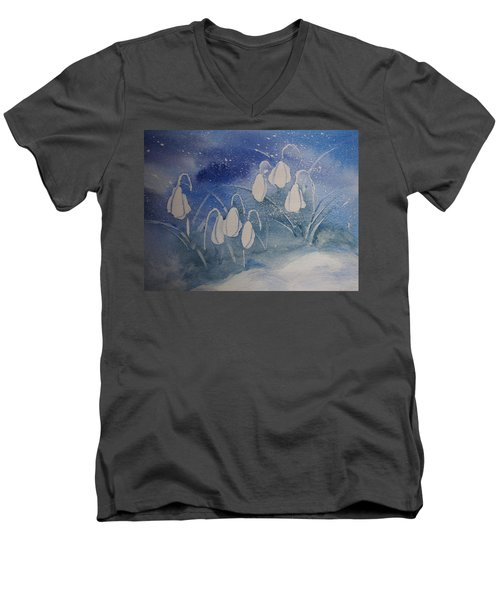 Frosty Bells Men's V-Neck T-Shirt