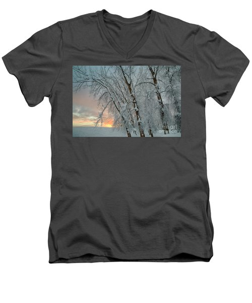 Frosty Sunrise Men's V-Neck T-Shirt