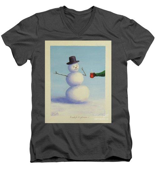 Frosty's Nightmare I Men's V-Neck T-Shirt