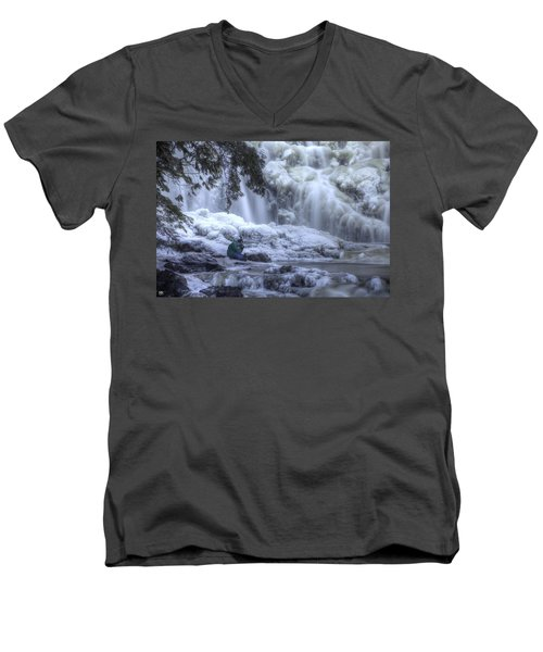 Frozen Falls Men's V-Neck T-Shirt