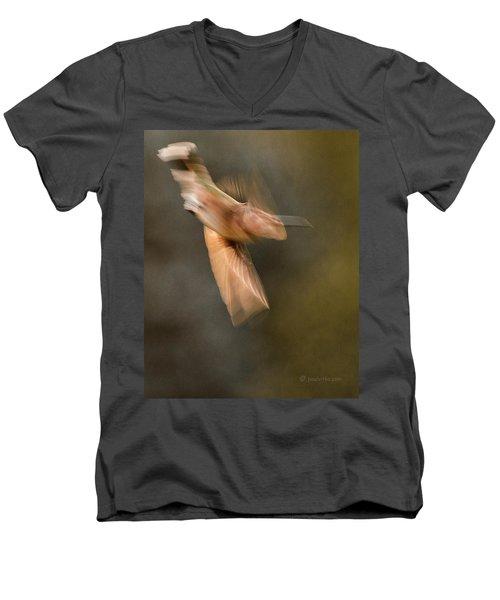 ...frozen Flight Hummingbird.... Men's V-Neck T-Shirt