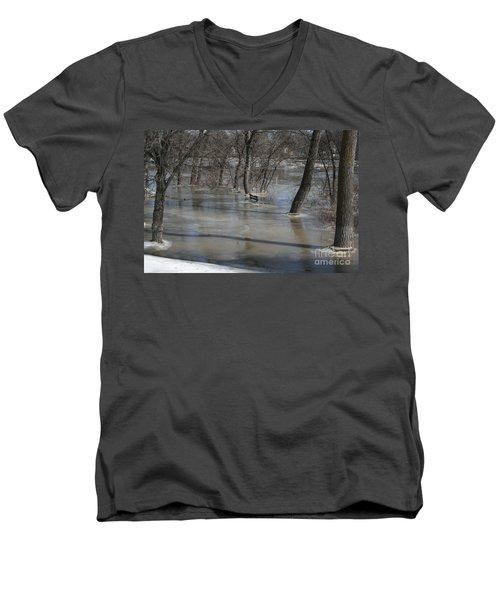 Frozen Floodwaters Men's V-Neck T-Shirt