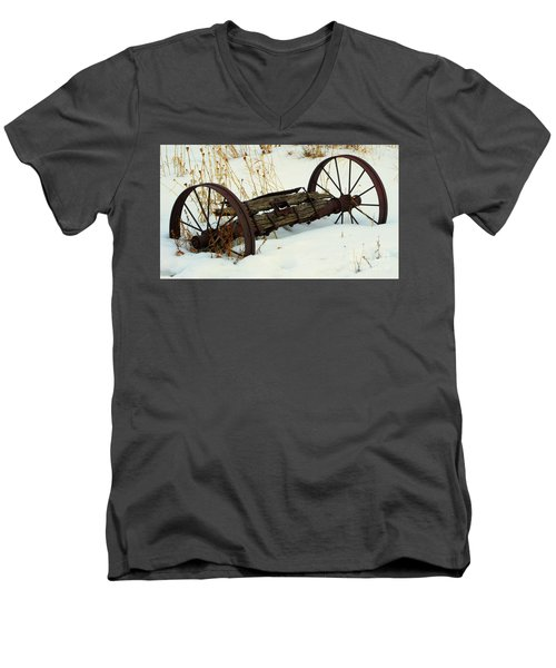 Frozen In Time Men's V-Neck T-Shirt by Janice Westerberg
