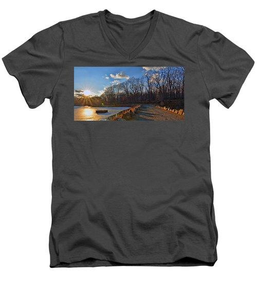 Frozen Sunset Men's V-Neck T-Shirt