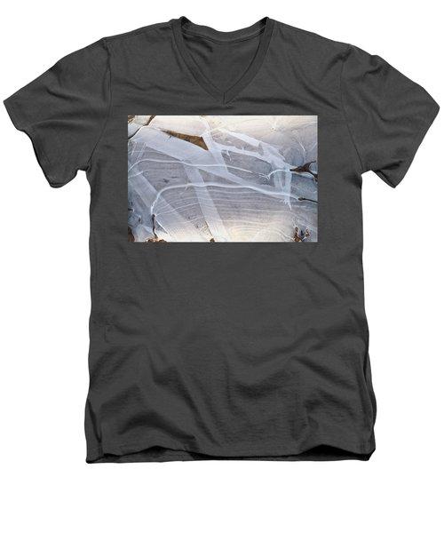 Frozen Water On Ground Men's V-Neck T-Shirt