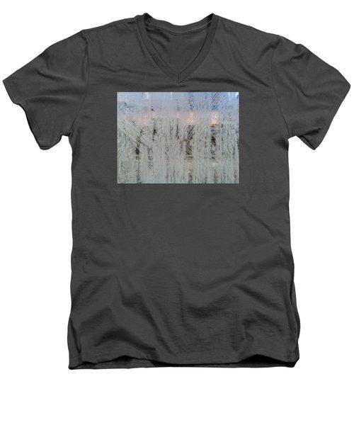Frozen Window Men's V-Neck T-Shirt by Ernst Dittmar