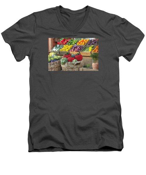 Fruit And Veggie Display Men's V-Neck T-Shirt