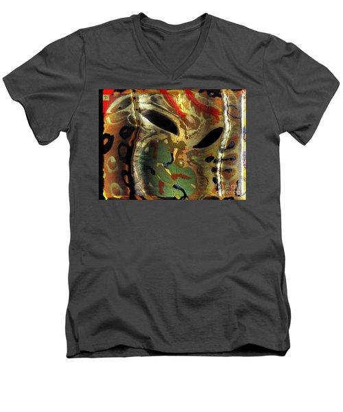 Fu Dog Mask Madness Men's V-Neck T-Shirt