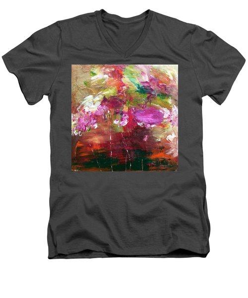 Fuchsia Burst Men's V-Neck T-Shirt