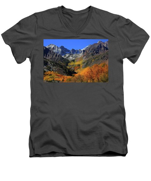 Full Autumn Display At Mcgee Creek Canyon In The Eastern Sierras Men's V-Neck T-Shirt