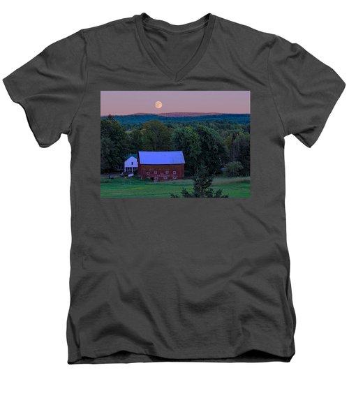 Full Moon From High Street Men's V-Neck T-Shirt