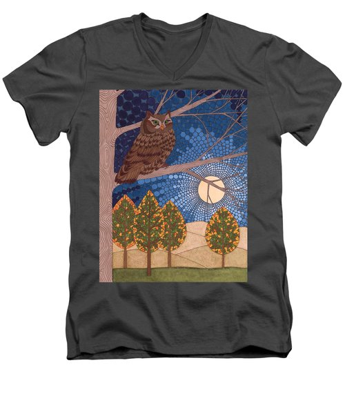 Full Moon Illumination Men's V-Neck T-Shirt