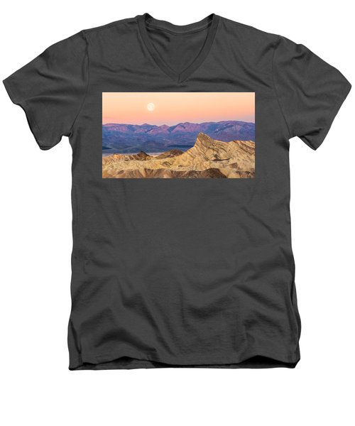 Full Moon Setting Men's V-Neck T-Shirt