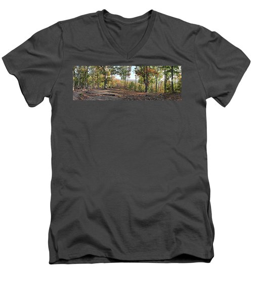 Full Panoramic View From The Summit Of Brown's Mountain Trail Men's V-Neck T-Shirt