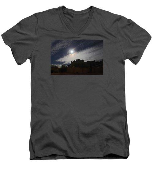 Men's V-Neck T-Shirt featuring the photograph Full Streak by Gary Kaylor