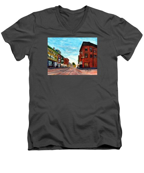 Fuller Building  Men's V-Neck T-Shirt