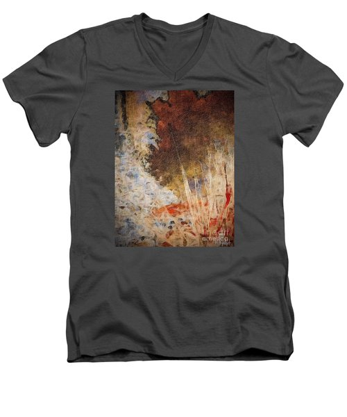 Men's V-Neck T-Shirt featuring the photograph Fun By The Lake by William Wyckoff