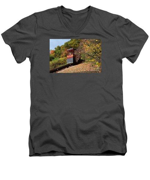 Funicular Descending Men's V-Neck T-Shirt