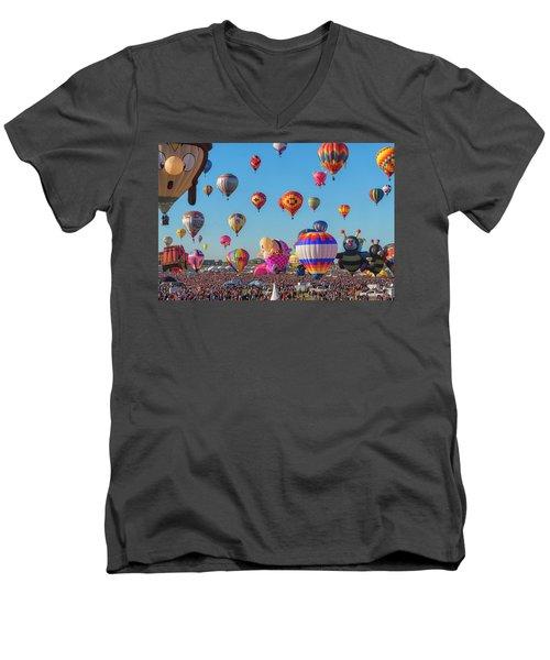 Funky Balloons Men's V-Neck T-Shirt