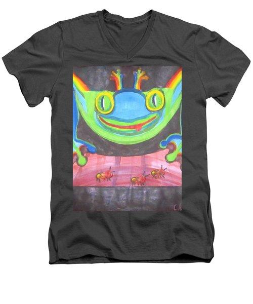 Funky Frog Men's V-Neck T-Shirt