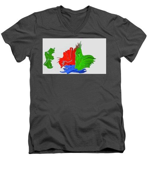 Funny Figures #h7 Men's V-Neck T-Shirt