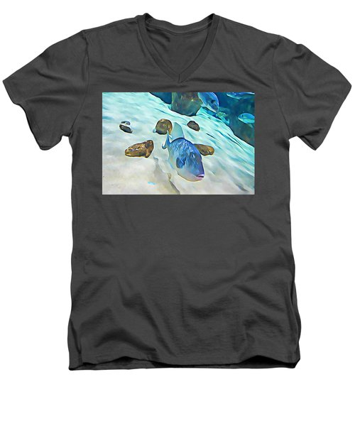 Funny Fish Men's V-Neck T-Shirt