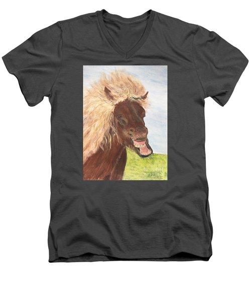 Funny Iceland Horse Men's V-Neck T-Shirt